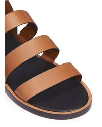 Vince Brown 'macey' Strappy Leather Sandals