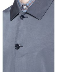 Boglioli Gray Washed Tech Fabric Trench Coat for men