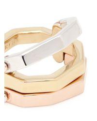 W. Britt | Metallic 'flip' Convertible Gold Plated Ring | Lyst