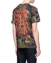 Haculla - Multicolor 'you See Nothing' Eye Embroidered Camouflage Print T-shirt for Men - Lyst