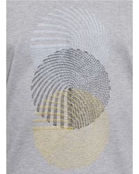 Wooyoungmi - Gray Spiral Embroidered T-shirt for Men - Lyst