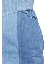 Nicholas Blue Stitch Waist Denim Skirt