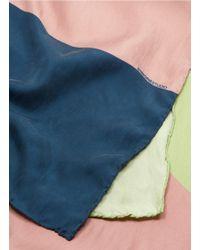 Faliero Sarti - Blue 'aquiloni' Abstract Geometric Print Silk Scarf - Lyst
