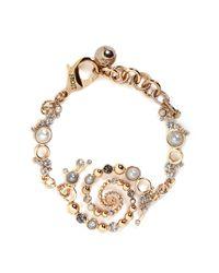 Lulu Frost | Metallic 'infinite' Glass Crystal Faux Pearl Swirl Bracelet | Lyst