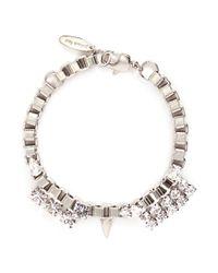 Joomi Lim | Metallic 'organized Chaos' Swarovski Crystal Box Chain Bracelet | Lyst