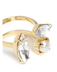 Joomi Lim - White 'screw U' Swarovski Crystal Pearl Ring - Lyst
