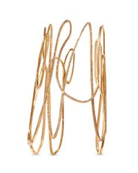 Repossi - Metallic 'white Noise' Diamond Pavé 18k Rose Gold Bangle - Lyst