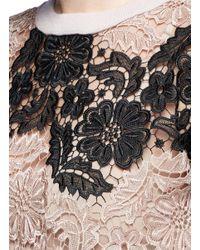 Alice + Olivia | Multicolor 'jesse' Floral Guipure Lace Wool Sweater | Lyst