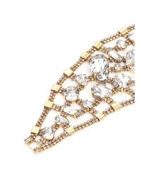 Erickson Beamon - Metallic 'river Song' Swarovski Crystal Brass Statement Bracelet - Lyst
