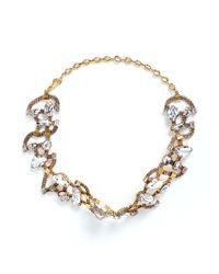 Erickson Beamon | Metallic 'river Song' Swarovski Crystal Choker Necklace | Lyst
