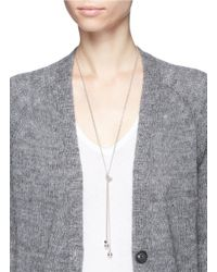 Philippe Audibert - Metallic 'bailee' Sphere Pendant Knotted Chain Necklace - Lyst