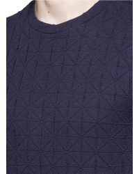 Armani - Blue Diamond Motif Sweater for Men - Lyst