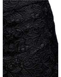 Alice + Olivia - Black 'amaris' Corded Floral Lace Shorts - Lyst