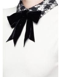 Alice + Olivia Multicolor 'gail' Bow Collar Check Tweed Dress