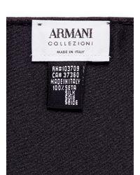 Armani - Black Silk Satin Pocket Square for Men - Lyst
