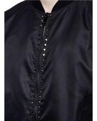 Valentino - Black 'rockstud Untitled 15 Noir' Bomber Jacket for Men - Lyst