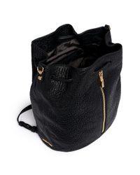 Elizabeth and James - Black 'cynnie Sling' Grainy Leather Bucket Bag - Lyst