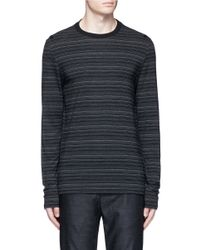Maison Margiela - Gray Stripe Ribbon Trim T-shirt for Men - Lyst