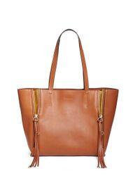 Chloé   Brown 'milo' Medium Leather Tote   Lyst