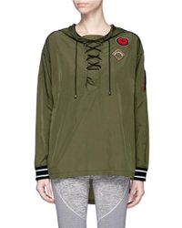 The Upside | Green 'maison' Icon Patch Lace-up Anorak Jacket | Lyst