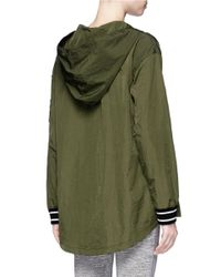 The Upside - Green 'maison' Icon Patch Lace-up Anorak Jacket - Lyst