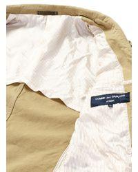 Comme des Garçons Brown Garment Dyed Oxford Soft Blazer for men