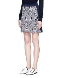 Victoria, Victoria Beckham - Multicolor Swirl Stripe Cutout Rib Knit Skirt - Lyst