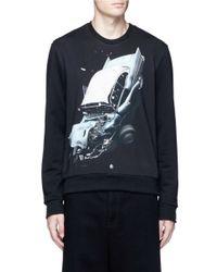 Christopher Kane | Black Car Crash-print Sweatshirt for Men | Lyst