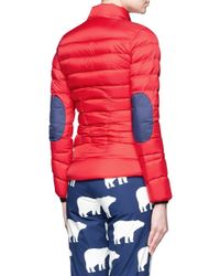 Perfect Moment Red Mini Duvet Quilted Down Ski Jacket