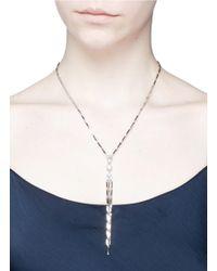 Eddie Borgo - Metallic 'estate Pop' Angular Bar Fringe Cubic Zirconia Necklace - Lyst