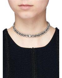 DANNIJO Metallic 'jihan' Swarovski Crystal Collar Necklace