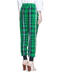 Stella McCartney - Multicolor 'julia' Gingham Check Elastic Back Jogging Pants - Lyst