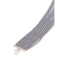 Kenneth Jay Lane - Gray Tiered Glass Pearl Collar Necklace - Lyst