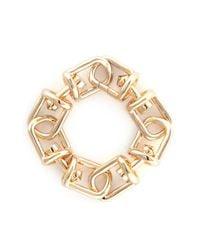 Eddie Borgo | Metallic 'fame' 12k Gold Plated Brass Link Bracelet | Lyst