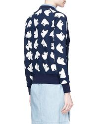 Perfect Moment - Blue 'bear' Print Cotton Sweatshirt - Lyst