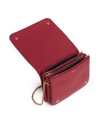 Mulberry Red 'clifton' Small Grainy Leather Chain Crossbody Bag