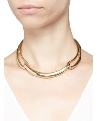 Kenneth Jay Lane - Blue Three Part Cut Out Collar Necklace - Lyst