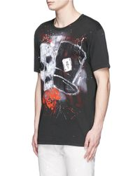 Faith Connexion Black Skull Tag Print T-shirt for men