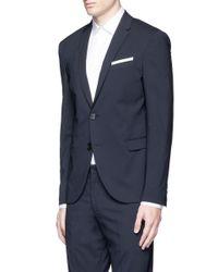 Neil Barrett Blue Slim Fit Wool Suit for men