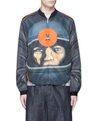 eb4904f8e Christopher Kane Target Print Bomber Jacket in Blue for Men - Lyst