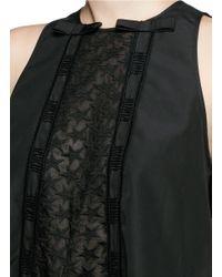 Giamba - Black Star Embroidery Ribbon Bow Tunic - Lyst