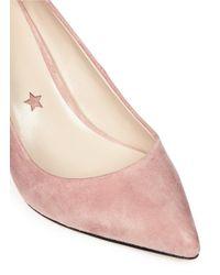 Pedder Red - Pink 'jess' Pointed Toe Suede Pumps - Lyst