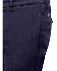 Lardini Black Cotton Herringbone Pants for men