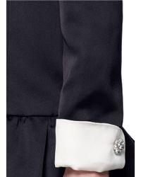 Marc Jacobs Black Ruffle Skirt Peaked Shoulder Drop Waist Dress