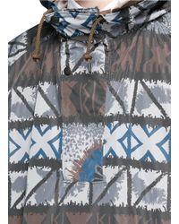 Kolor | Brown Print Anorak for Men | Lyst