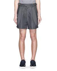 Kolor | Gray Floral Embroidered Belted Shorts for Men | Lyst
