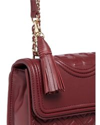 Tory Burch - Red 'fleming' Small Convertible Shoulder Bag - Lyst