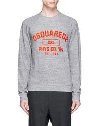 DSquared² | Gray Logo Print Cotton Sweatshirt for Men | Lyst