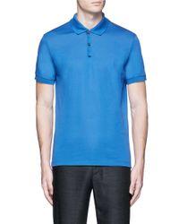 Lanvin | Blue Slim Fit Reverse Seam Polo Shirt for Men | Lyst