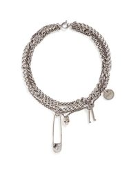 Alexander McQueen | Metallic Assorted Charm Curb Chain Necklace | Lyst